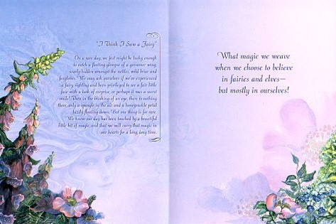 inspirational card i think i saw a fairy inspirational greetings, Greeting card